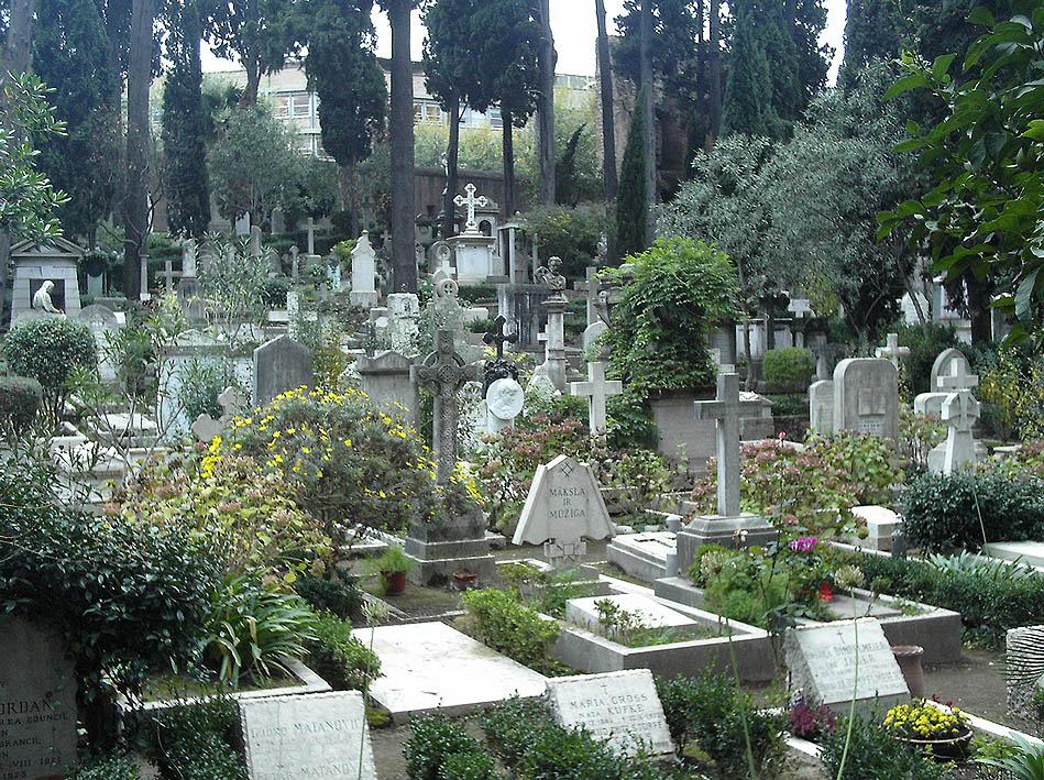 Il cimitero acattolico della capitale