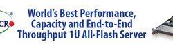 Supermicro liefert den 1-HE-All-Flash-Speicherserver mit weltweit bester Leistung, Kapazität und dem besten End-to-End-Durchsatz, der mit dem Samsung NF1 NVMe Speicher optimiert ist